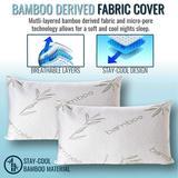 Bamboo Memory Foam Pillow - Non-Adjustable